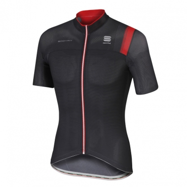 Sportful Bodyfit pro race jersey black/red men