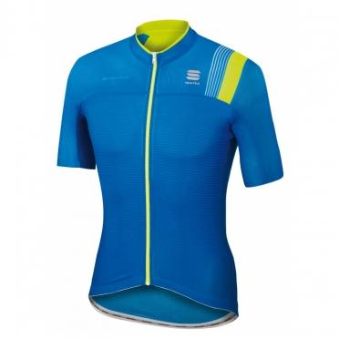 Sportful Bodyfit pro race jersey blue/yellow men