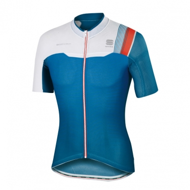 Sportful Bodyfit pro race jersey blue/white men