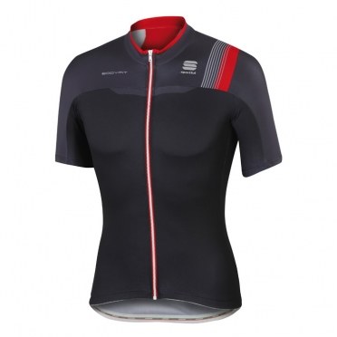 Sportful Bodyfit pro team jersey black/red men