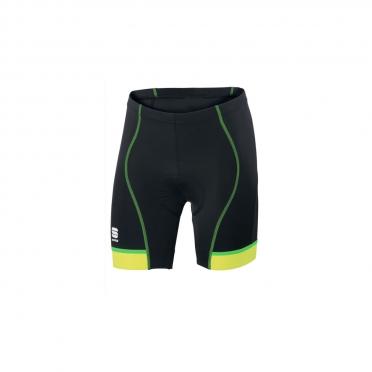 Sportful Giro 2 Sol cycling short 18cm black/fluo-yellow