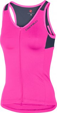 Castelli Solare top sleeveless pink/blue women