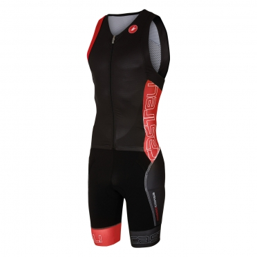 Castelli Free sanremo tri suit sleeveless men black/red 16071-231
