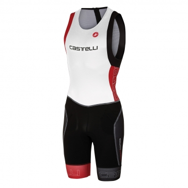 Castelli Free tri itu suit sleeveless men white/red 16072-123