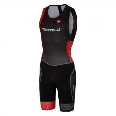 Castelli Free tri itu suit sleeveless men black/red 16072-231