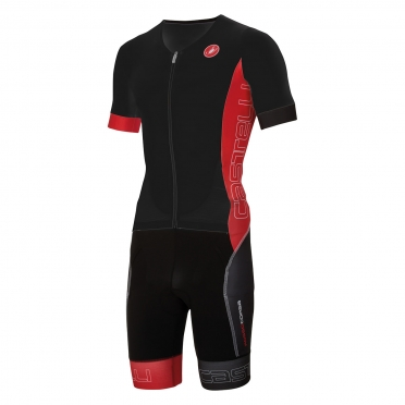 Castelli Free sanremo tri suit short sleeve men black/red 16073-231