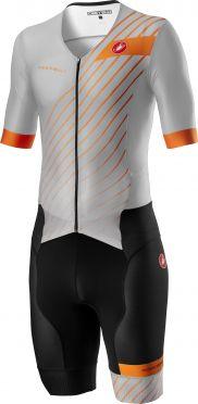 Castelli Free Sanremo 2 trisuit short sleeve silver/black men