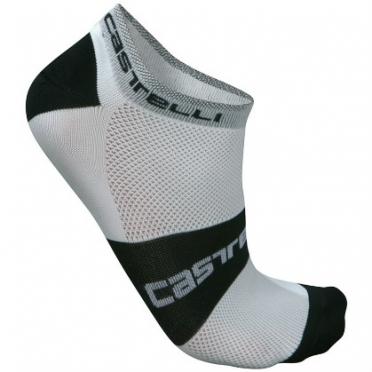 Castelli Lowboy sock white/black mens 7069-001 2015