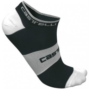 Castelli Lowboy sock black/white mens 7069-010 2015