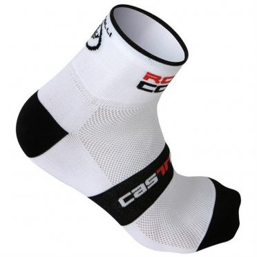 Castelli rosso corsa 6 sock white mens 7072-001