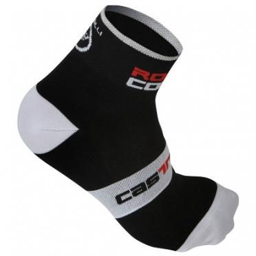 Castelli rosso corsa 6 sock black mens 7072-010