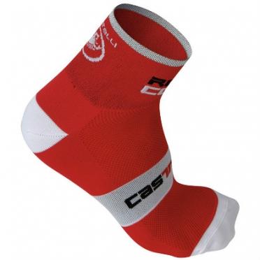 Castelli rosso corsa 6 sock red mens 7072-023
