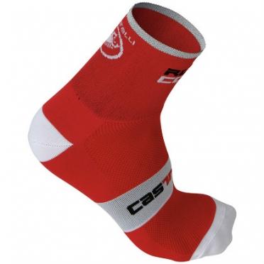 Castelli rosso corsa 9 sock red mens 9046-023