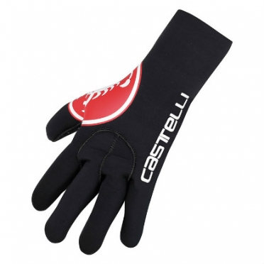 Castelli Diluvio glove black/red mens 14536-123