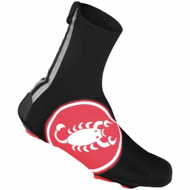 Castelli Diluvio shoecover 16 black/red mens 14538-123