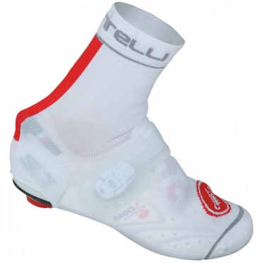Castelli Belgian bootie 4 overshoes white/red mens 14544-123