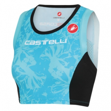 Castelli Free W tri short top aqua women 13074-066