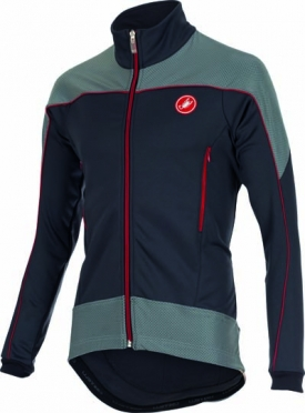Castelli Mortirolo reflex jacket anthracite/red/reflex mens 15520-009