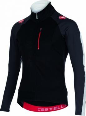Castelli Trasparente 3 wind jersey FZ black/anthracite/white mens 15525-901