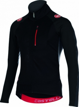 Castelli Trasparente 3 wind jersey FZ black/anthracite mens 15525-910