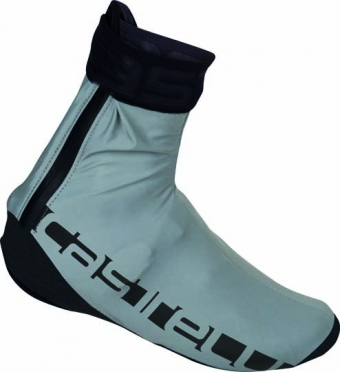 Castelli Reflex overshoes silver mens 15546-003