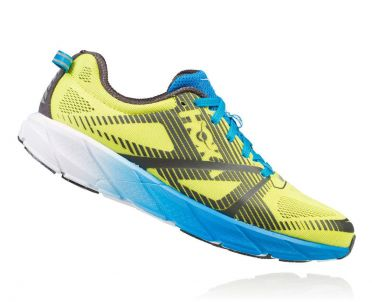 Hoka One One Tracer 2 running shoes yellow/blue men