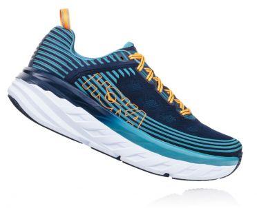 Hoka One One Bondi 6 running shoes black/blue men