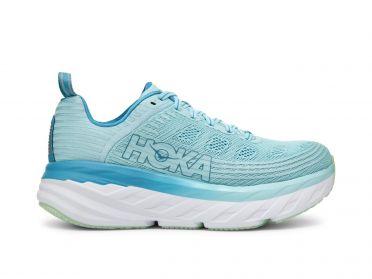 Hoka One One Bondi 6 running shoes light blue women