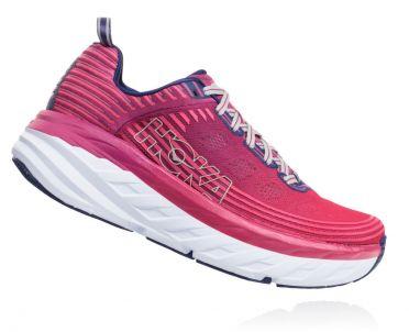 Hoka One One Bondi 6 running shoes pink/purple women