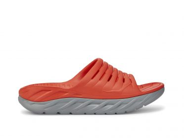 Hoka One One ORA Recovery Slide red men