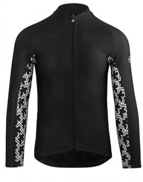 Assos Mille GT spring fall long sleeve jersey black men