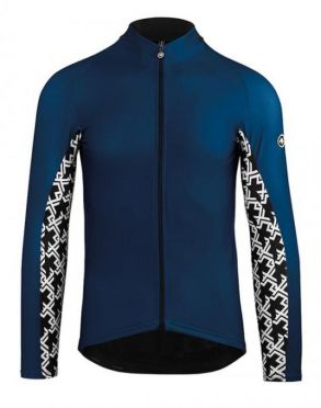 Assos Mille GT spring fall long sleeve jersey blue men