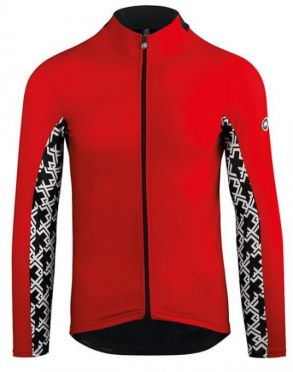 Assos Mille GT spring fall long sleeve jersey red men