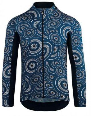 Assos Mille GT summer long sleeve cycling jersey caleum/blue men