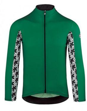 Assos Mille GT summer long sleeve cycling jersey green men
