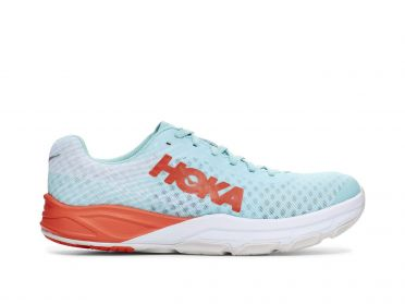 Hoka One One Evo Carbon Rocket running shoes blue/red men
