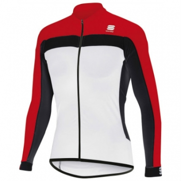 Sportful Pista long sleeve cycling jersey white/red men