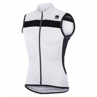 Sportful Pista sleeveless cycling jersey white/black men