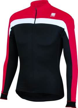 Sportful Pista Thermal Jersey black/red men 01152-102