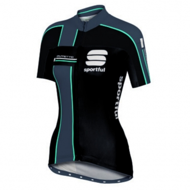 Sportful Gruppetto cycling jersey black women