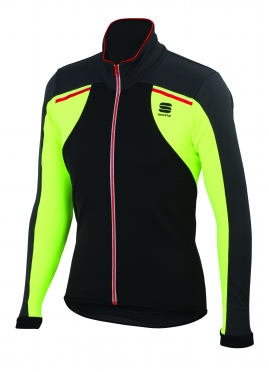 Sportful Alpe 2 Softshell jacket black-yellow men 01399-291
