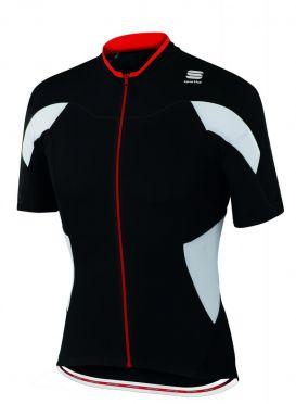 Sportful SF crank jersey short sleeve black/white men