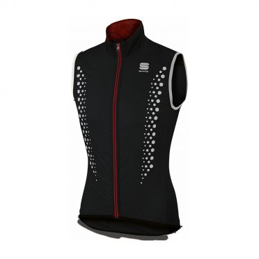 Sportful Hotpack Hi Viz sleeveless vest black men