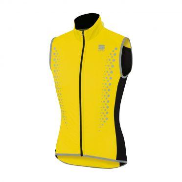 Sportful Hotpack Hi Viz sleeveless vest yellow fluo men