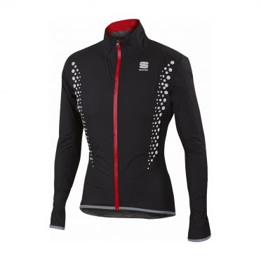 Sportful Hotpack Hi Viz norain long sleeve jacket black men