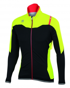 Sportful Fiandre No-Rain Jacket black/yellow men