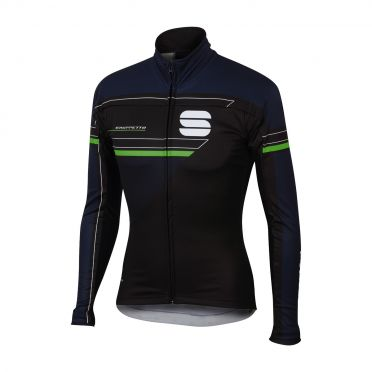Sportful Gruppetto partial WS jacket black/blue men