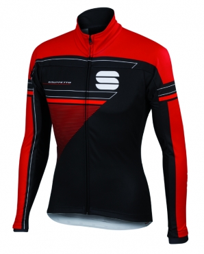 Sportful Gruppetto partial WS jacket black/red men