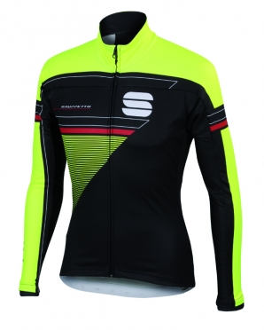 Sportful Gruppetto partial WS jacket black/yellow men
