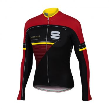 Sportful Gruppetto thermal jersey black/red/yellow men